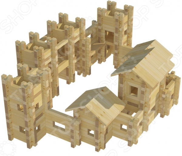Фото Конструктор деревянный Лесовичок «Крепость №5»