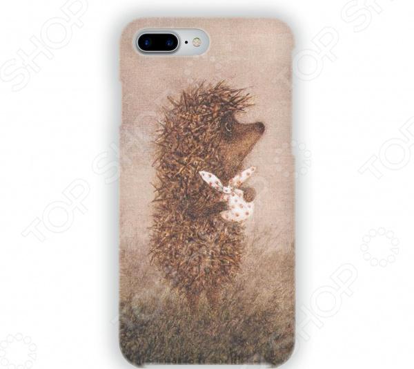 Чехол для iPhone 7 Plus Mitya Veselkov «Ёжик с котомкой» стоимость
