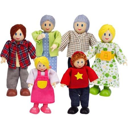 Купить Набор мини-кукол Hape «Счастливая европейская семья»