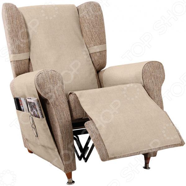 Накидка на кресло Медежда «Иден» чехол на мебель медежда чехол на стул с юбкой иден коричневый