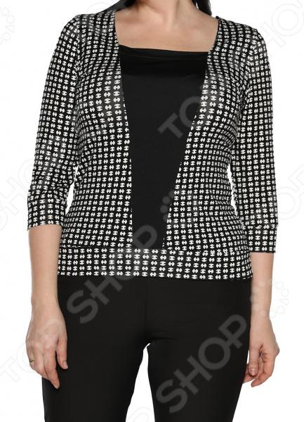Туника Jenks «Добрый взгляд». Цвет: черный, белый блуза jenks счастливое настроение цвет фиолетовый