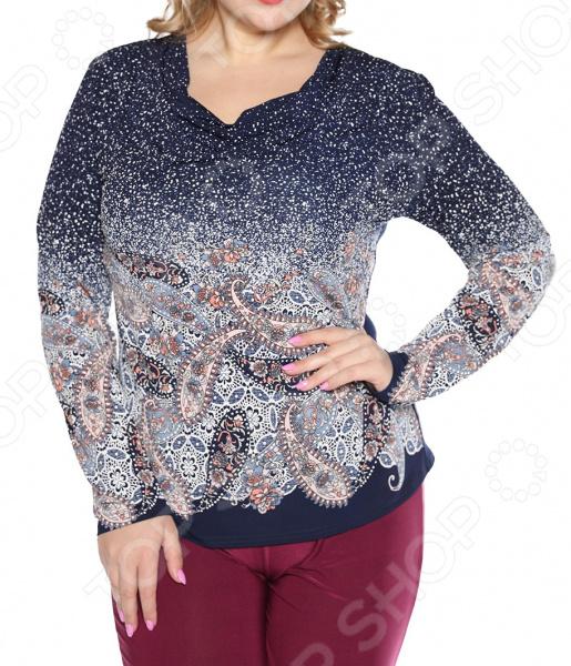 Блуза ТРЕНД «Богатая душа» блуза тренд радужный блеск цвет бордовый