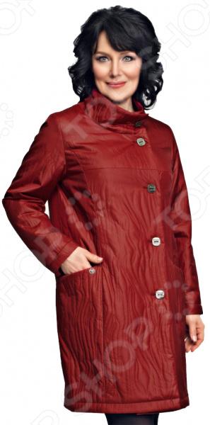 Пальто D`imma «Велма». Цвет: брусничный