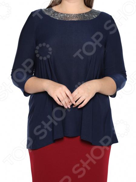Блуза Лауме-Лайн «Сияющая мечта». Цвет: темно-синий блуза лауме лайн шикарный букет цвет розовый