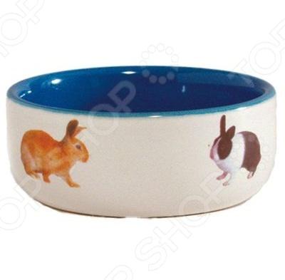 Миска для кролика Beeztees Рисунок: кролики gipfel миска многофункциональная 24х23х16