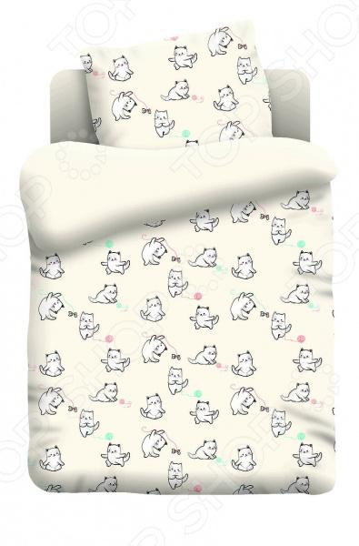 Ясельный комплект постельного белья Непоседа «Котята»
