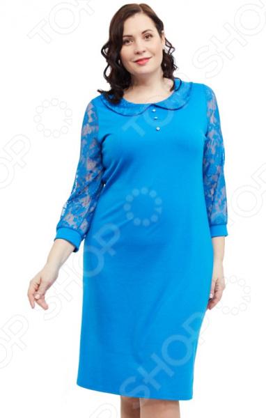 Платье Матекс «Мила». Цвет: голубой цена 2017