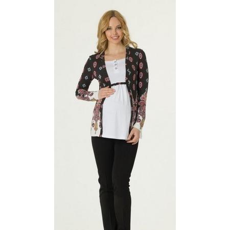 Купить Блузка для беременных Nuova Vita 1393.6. Цвет: серый, белый