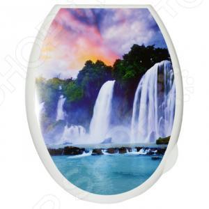 Сиденье-крышка для унитаза Violet «Водопад»