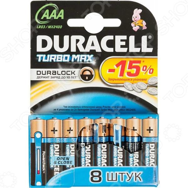цена на Набор батареек Duracell Turbo LR03-8BL