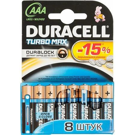 Набор батареек Duracell Turbo LR03-8BL