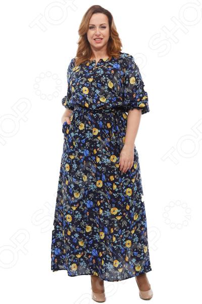 Платье Blagof «Цветана». Цвет: темно-синий