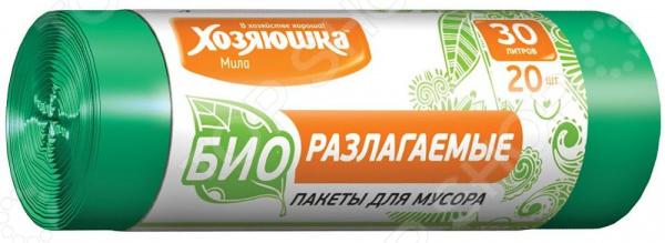 Пакеты для мусора Хозяюшка «Мила» 07025 пакеты д мусора премиум повышенной прочности 30л в пластах 20 шт 930984