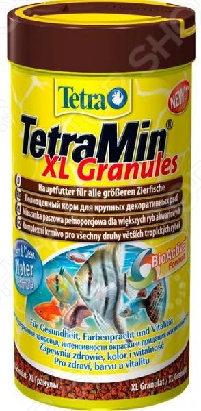Корм для крупных декоративных рыб Tetra Min XL Granules корм tetra tetramin xl granules complete food for larger tropical fish крупные гранулы для больших тропических рыб 10л