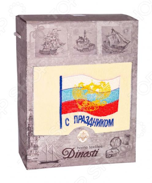 Zakazat.ru: Полотенце махровое подарочное Dinosti «С праздником!». В ассортименте