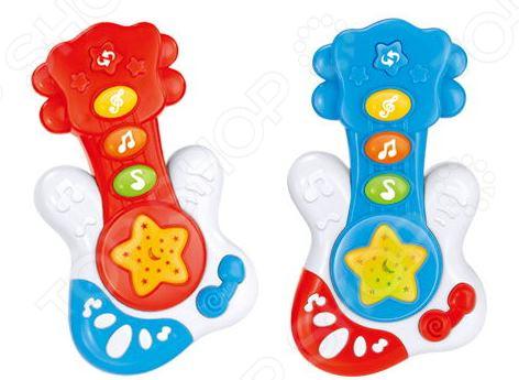 Игрушка музыкальная Наша Игрушка «Гитара Е-Нотка». В ассортименте игрушка жирафики музыкальная игрушка гитара 939553