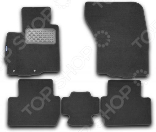 Комплект ковриков в салон автомобиля Novline-Autofamily Mitsubishi Outlander XL 2010 внедорожник. Цвет: черный комплект 3d ковриков в салон автомобиля novline autofamily ford mondeo 2015
