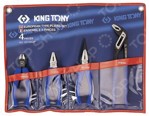 Набор: пассатижи, плоскогубцы и бокорезы King Tony KT-42104GP01