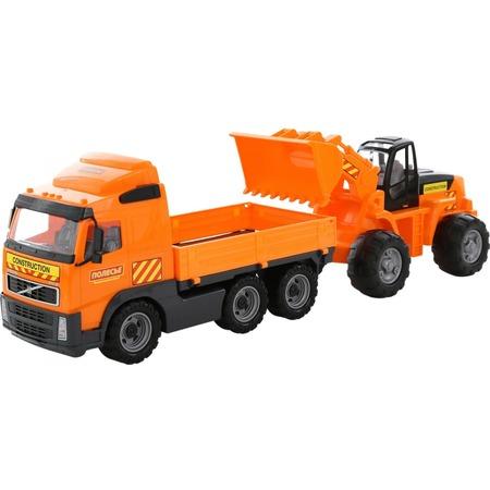 Купить Набор машинок игрушечных POLESIE Volvo с трактором-погрузчиком