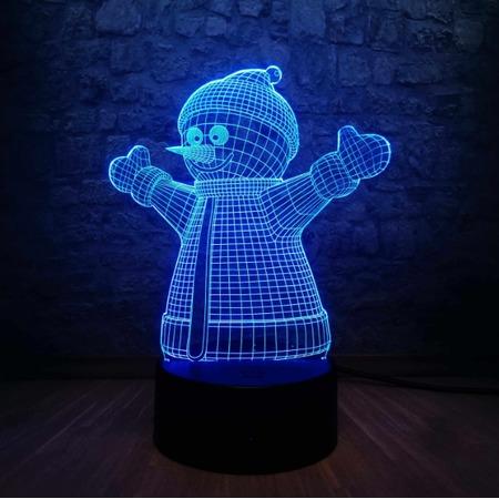 Купить Светильник 3D «Снеговик»