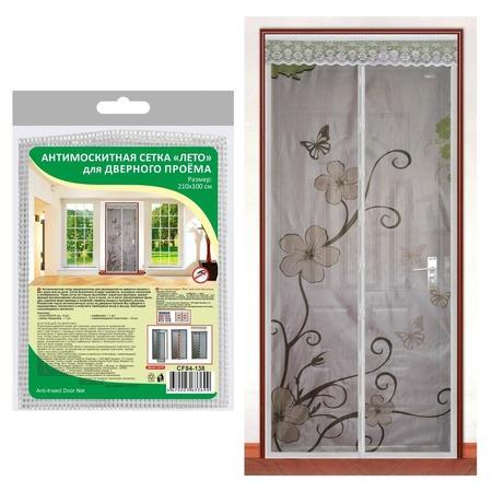 Купить Сетка антимоскитная на дверь Мультидом «Лето» CF84-138