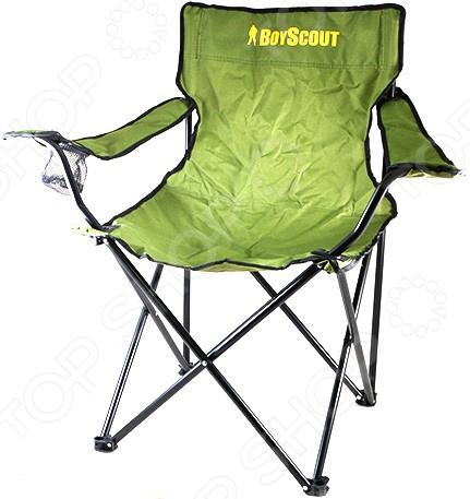 Кресло кемпинговое раскладное с подлокотниками BOYSCOUT в чехле 1