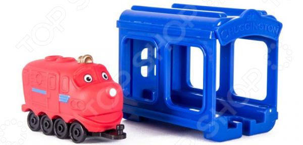 Игровой набор с фигуркой Чаггингтон «Паровозик Wilson с гаражом»