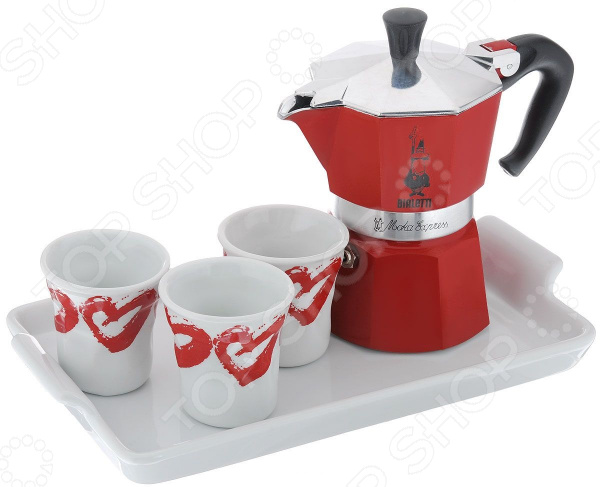 Набор для кофе Bialetti SET Moka Red Passion 4970