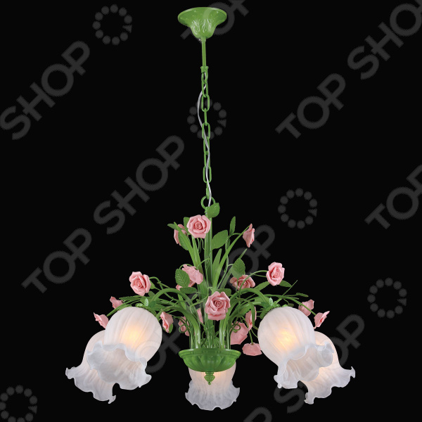 Люстра потолочная Natali Kovaltseva Rose 11470/5C Green
