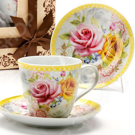 Чайный набор Loraine «Розы» LR-25793 масленка loraine lr 22444 розы в ассортименте