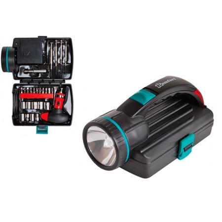 Купить Набор инструментов с фонарем Komfort KF-1014
