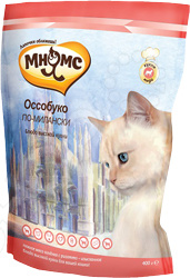 Корм сухой для кошек Мнямс «Оссобуко по-Милански» с ягненком и рисом