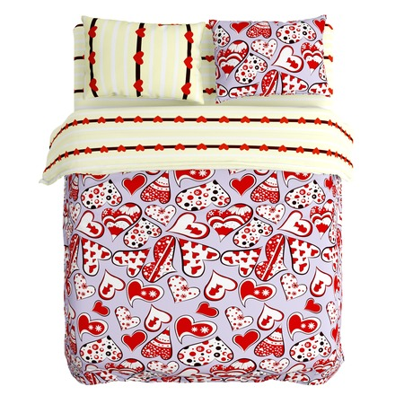 Купить Комплект постельного белья Сирень «Любовь» 10422