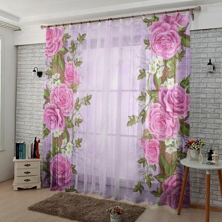 Купить Комплект тюля ТамиТекс «Китайские розы»