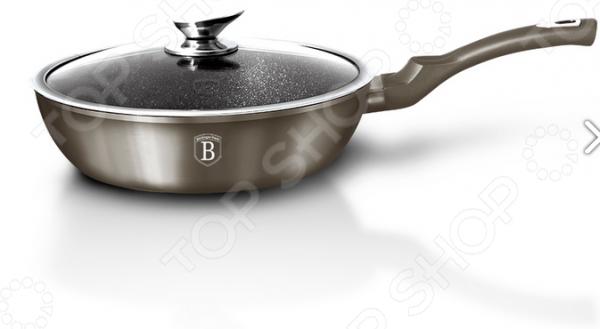 Сковорода с крышкой Berlinger Haus Carbon Metallic сковорода с крышкой berlinger haus forest светлое дерево