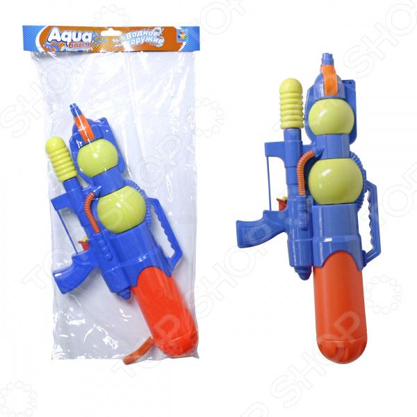 Бластер водный 1 Toy помповый с курком «Аквамания» Бластер водный 1 Toy помповый с курком «Аквамания» /