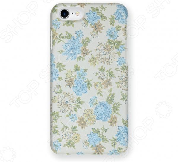 Чехол для iPhone 5 Mitya Veselkov «Нежные голубые цветы»