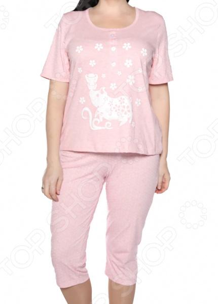 Пижама Алтекс «Пока все дома». Цвет: розовый
