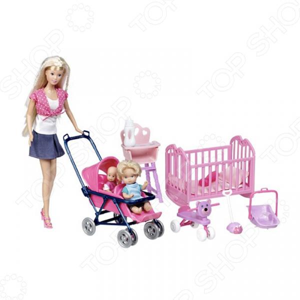 Кукла штеффи с детьми и аксессуарами Simba 5736350. В ассортименте