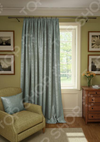 Штора Kauffort Plain Lux. Цвет: светло-бирюзовый шторы интерьерные kauffort штора provence k на тесьме 136х175