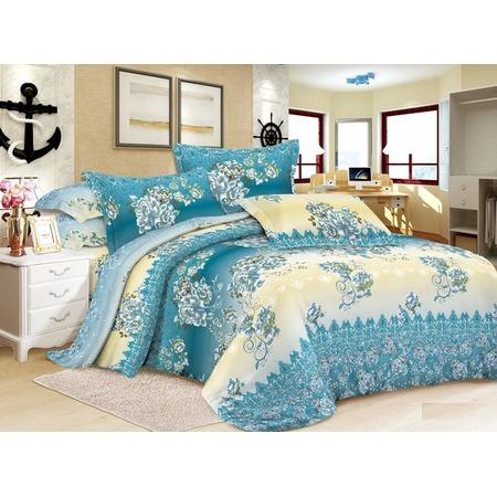 Комплект постельного белья «Сказочная мелодия». Евро. Рисунок : бирюзовые розы