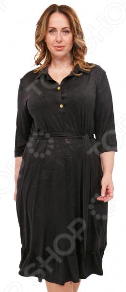 Платье Laura Amatti «Бархатная леди». Цвет: черный