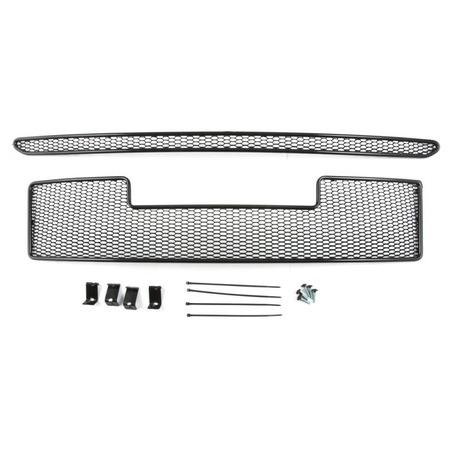 Купить Комплект внешних сеток на бампер Arbori Soty для Mitsubishi Pajero IV, 2015. Цвет: черный