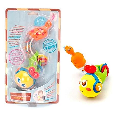 Купить Мягкая игрушка развивающая Huile Toys «Гусеничка»
