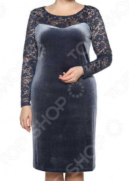 Платье Лауме-Лайн «Бархатный блюз». Цвет: серый