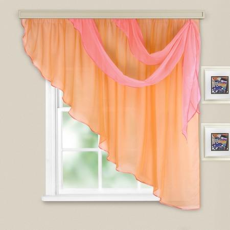 Купить Комплект легких штор правосторонний WITERRA «Азалия». Цвет: персиковый