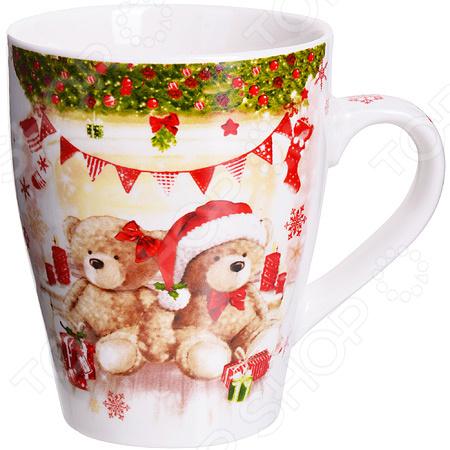 Кружка Loraine Merry Christmas LR-28460 кружка loraine merry christmas 340 мл