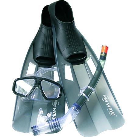 Купить Набор из маски, трубки и ласт WAWE Mask Snorkel Fins