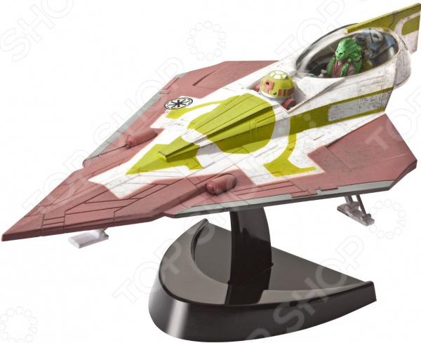Модель сборная Revell Звездный Истребитель Кита Фисто станет отличным подарком ребенку или взрослому, увлекающемуся моделированием. Эта модель выпущена известной фирмой Revell, которая почти 60 лет занимается изготовлением оригинальных комплектов сборных моделей. Выпускаемые этим брендом модели осуществят желания коллекционеров любого возраста. Звездный истребитель точная копия космического корабля джедая Кито Фисто из популярного фильма Звездные войны: Война клонов . Это очень реалистичная модель. Она имеет потертости из-за боевых сражений и дроида-навигатора.  Сборка модели сложный, кропотливый, но очень увлекательный процесс. Она отлично развивает мелкую моторику, логическое и пространственное мышление, навыки конструирования. В комплекте: 34 детали, которые легко соединяются защелкиванием, фигурка джедая, фигурка навигационного дроида и подробная инструкция.