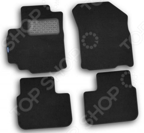 Комплект ковриков в салон автомобиля Novline-Autofamily Volkswagen Passat CC 2009 купе. Цвет: черный - фото 2